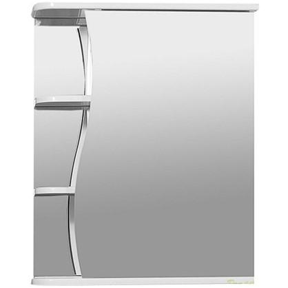 Зеркальный шкаф Тура 55 см цвет белый