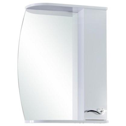 Зеркальный шкаф Венеция 55 см цвет белый