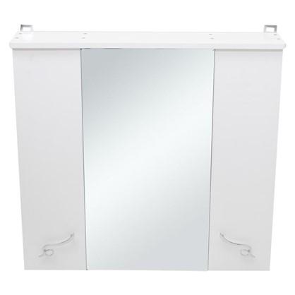 Зеркальный шкаф Венеция 75 см цвет белый