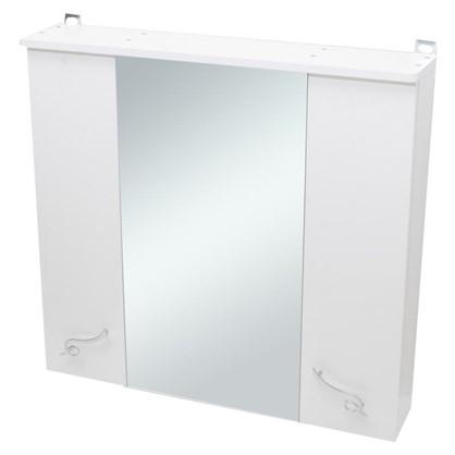 Купить Зеркальный шкаф Венеция 75 см цвет белый дешевле