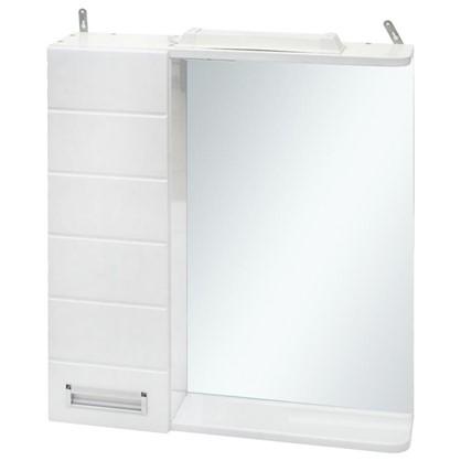 Купить Зеркальный шкаф Венто 50 см цвет белый дешевле