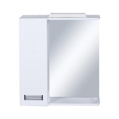 Зеркальный шкаф Венто 60 см цвет белый