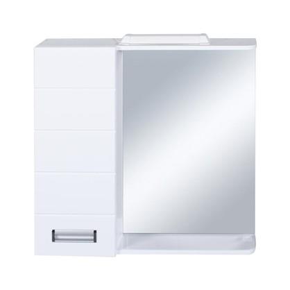 Купить Зеркальный шкаф Венто 70 см цвет белый дешевле