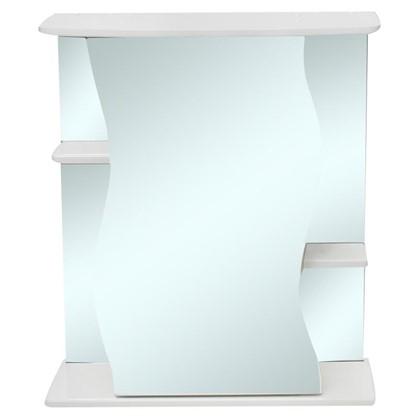Купить Зеркальный шкаф Волна 60 см цвет белый дешевле