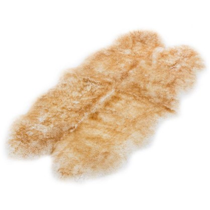 Шкура овечья четверная 1.85x1.05 м цвет палевый