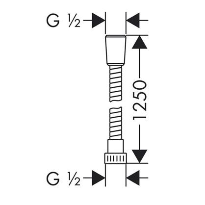Шланг для душа Hansgrohe 1.25 м ПВХ цвет хром