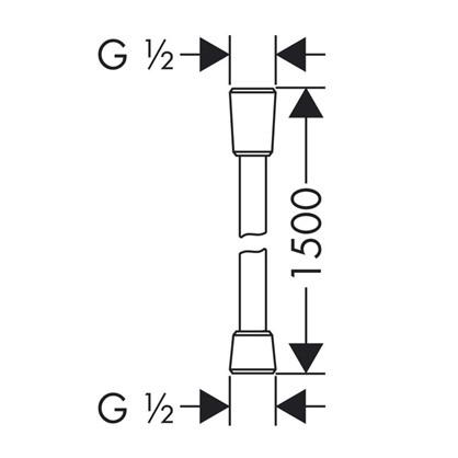 Шланг для душа Hansgrohe Isiflex B 1.5 м ПВХ цвет хром