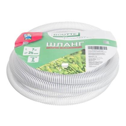 Шланг садовый напорно-вакуумный армированный спиралью 25 мм 7 м ПВХ