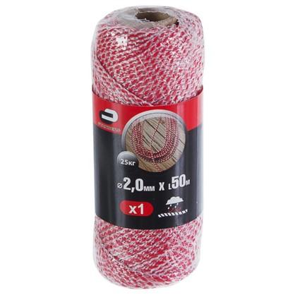 Шнур хозяйственно-бытовой Standers с сердечником 2 мм 50 м цвет белый/красный