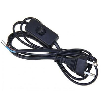 Купить Шнур сетевой с выключателем 1.9 м цвет черный дешевле