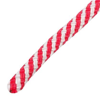 Шнур спирального плетения Standers 8 мм 10 м полипропилен цвет белый/красный