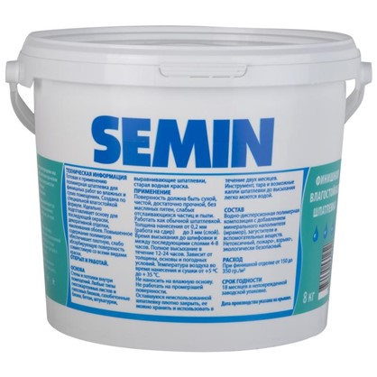 Купить Шпаклевка финишная влагостойкая Semin Sem-WP 8 кг дешевле