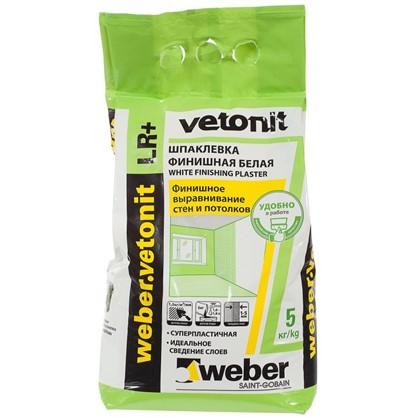Купить Шпаклевка финишная Weber Vetonit LR Plus 5 кг дешевле