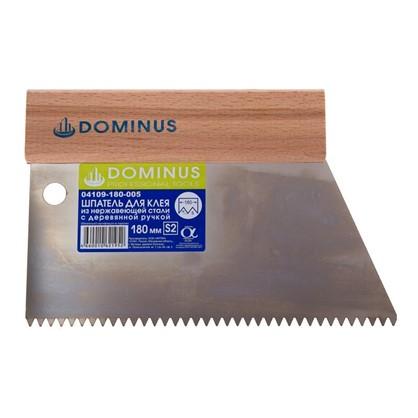 Шпатель зубчатый Dominus 180 мм S2 нержавеющая сталь