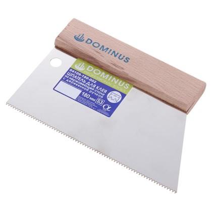Купить Шпатель зубчатый Dominus 180 мм S3 нержавеющая сталь дешевле