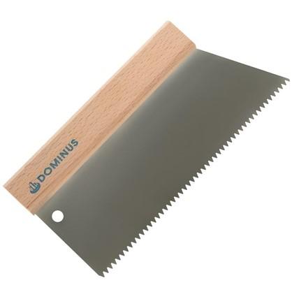 Шпатель зубчатый Dominus 250 мм S2 нержавеющая сталь