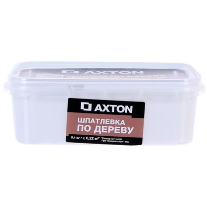 Шпатлевка Axton для дерева 04 кг цвет белый