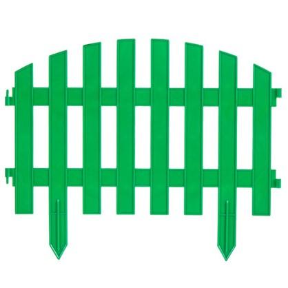 Штакетник Волна 3 м цвет зелёный