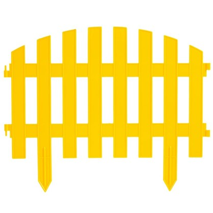 Купить Штакетник Волна 3 м цвет жёлтый дешевле