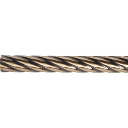 Штанга витая 160 см сталь цвет золото антик