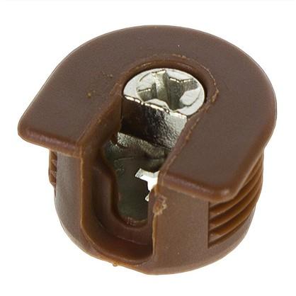 Штифт с эксцентриком 16 мм пластик цвет коричневый 4 шт.