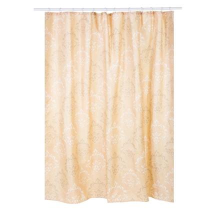 Купить Штора для ванной Ампир 180х200 см цвет бежевый дешевле