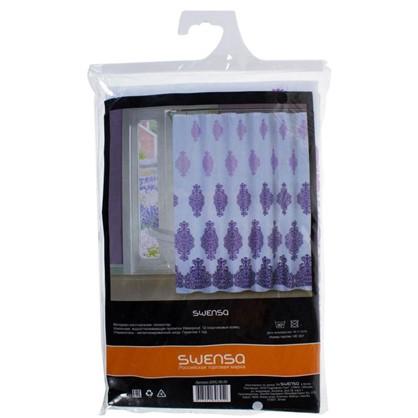 Штора для ванной Антураж 180x180 см цвет фиолетовый