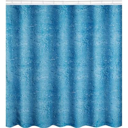 Штора для ванной Aqua 180x180 см цвет синий