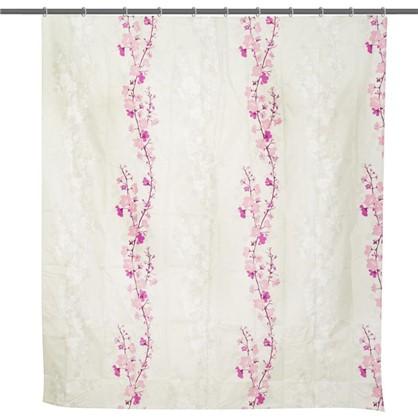 Штора для ванной Blossom 180х200 см цвет белый