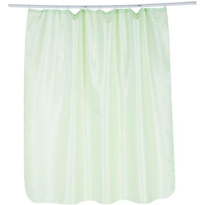 Штора для ванной Бриллиант 180х180 см цвет зелёный