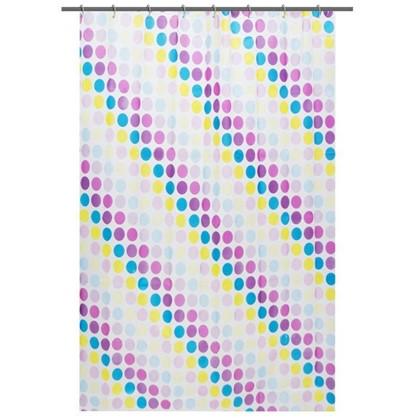 Штора для ванной Цветной тетрис 180x180 см цвет белый