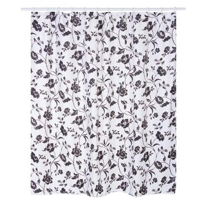 Штора для ванной Emanuela 180х180 см цвет чёрный