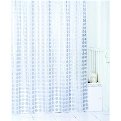 Штора для ванной Gold Rush 180х200 см цвет белый