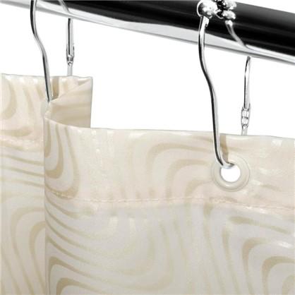 Купить Штора для ванной La perla 180х200 см цвет бежевый дешевле