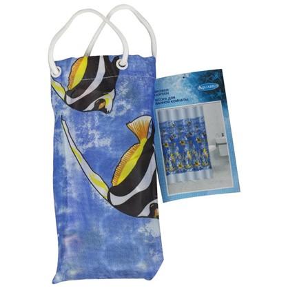 Штора для ванной Микс в мешочке 180х200 см цвет синий