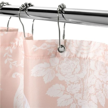 Штора для ванной Oxford 180х200 см цвет розовый