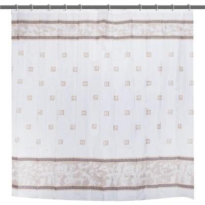 Купить Штора для ванной Rome 180x180 см цвет бежевый дешевле