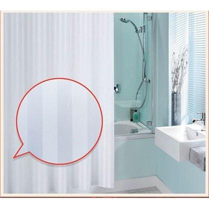 Штора для ванной Silver Silk 180х180 см цвет белый