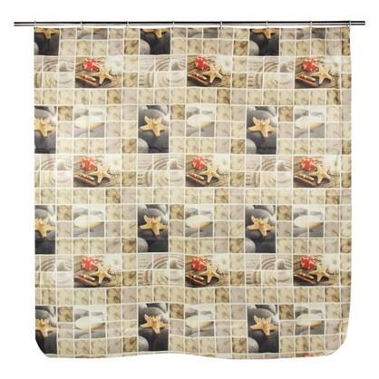 Купить Штора для ванной Спа 180х180 см цвет бежевый дешевле