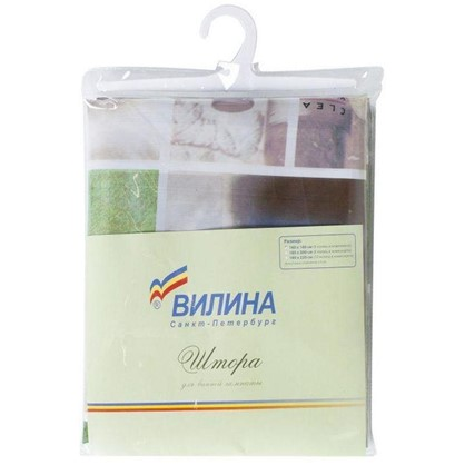 Купить Штора для ванной Спа 180х180 см цвет зелёный дешевле