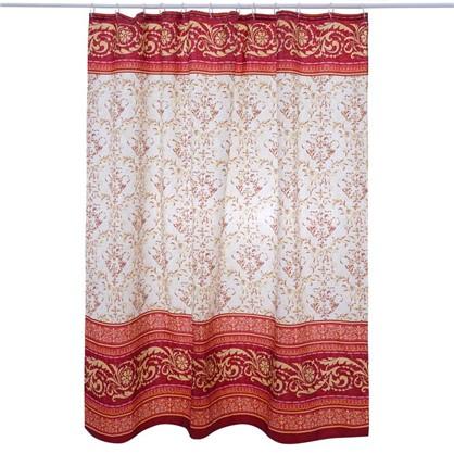 Штора для ванной Vidage Arabesko 180х200 см цвет красный