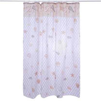 Купить Штора для ванной Vidage Кастель 180х180 см цвет бежевый дешевле