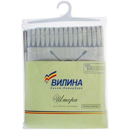 Штора для ванной Якорь 180х180 см цвет белый