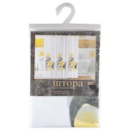 Штора для ванной Yellow Orchid 180х180 см цвет белый