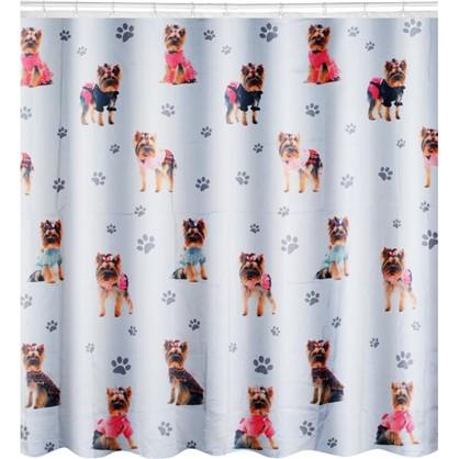 Штора для ванной York-dog 180х180 см цвет белый цена