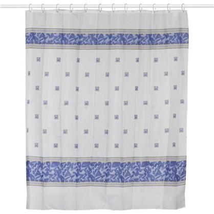 Купить Штора для ванной Zumrut 180х200 см цвет голубой дешевле