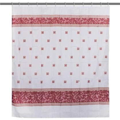 Штора для ванной Zumrut 180х200 см цвет красный