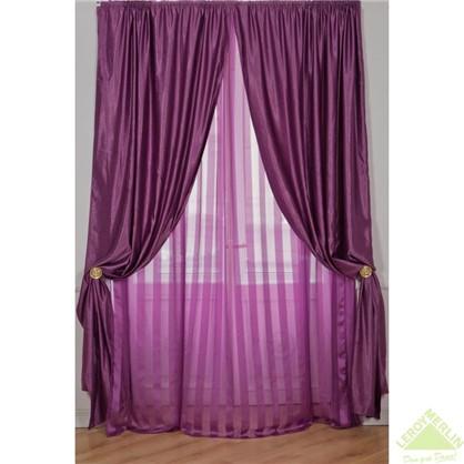 Штора Madlen фиолетовая 140х260 см лента