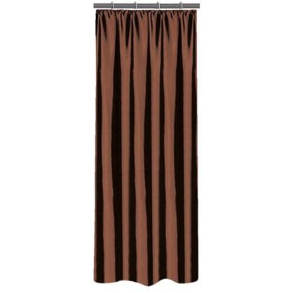 Купить Штора на ленте 140х260 см тафта цвет шоколадный дешевле