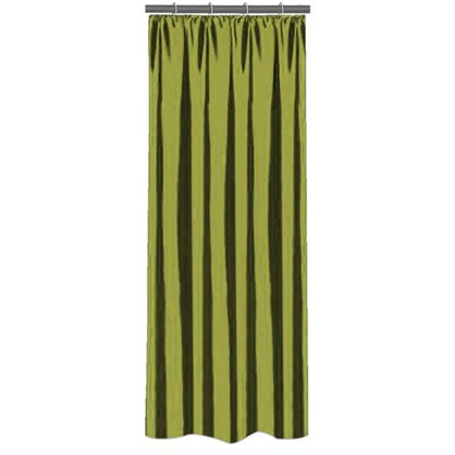 Штора на ленте 140х260 см тафта цвет зеленый